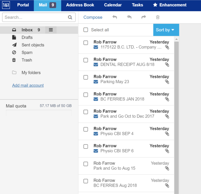6 Organize eMail