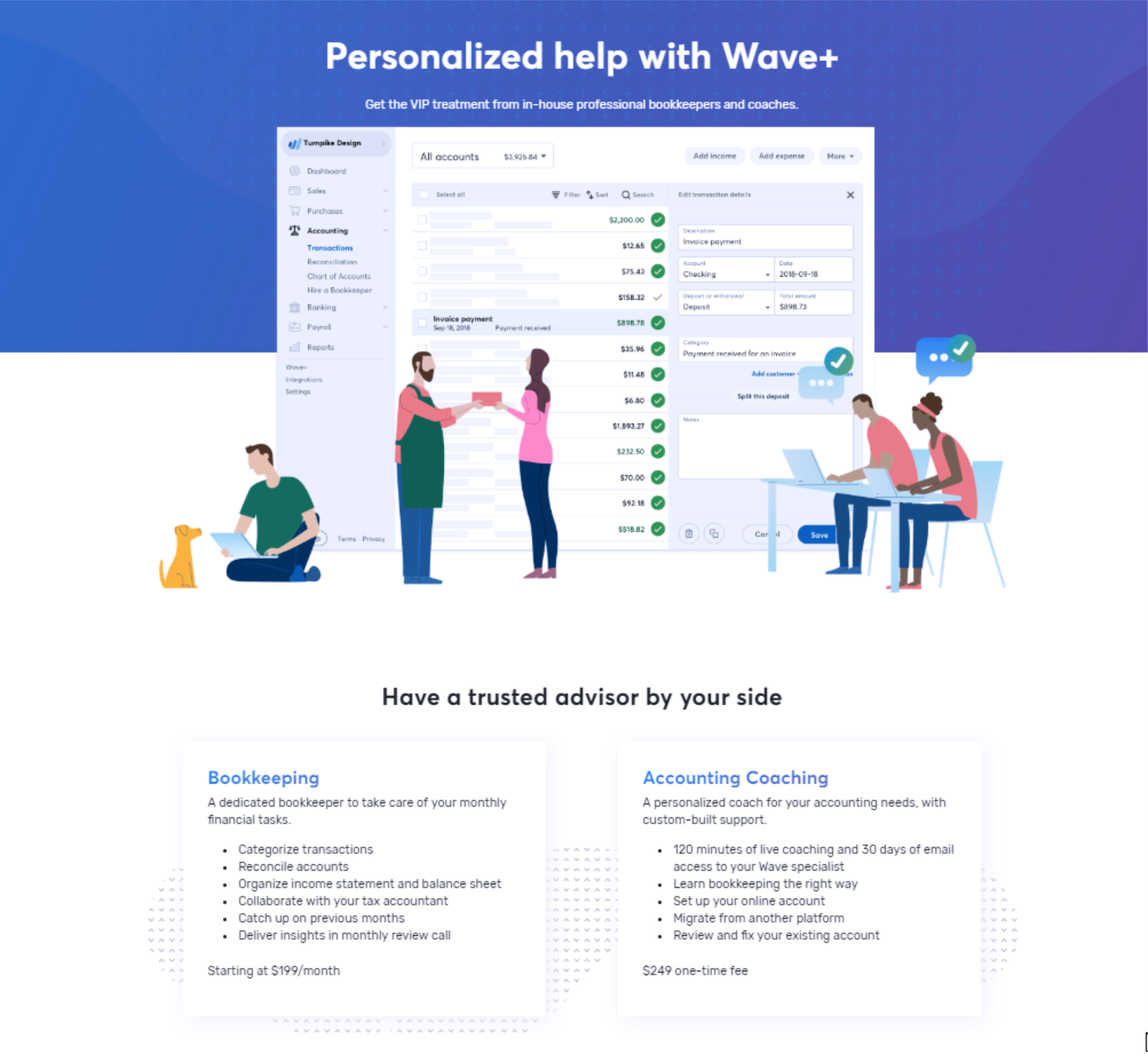 Wave Bookkeeping