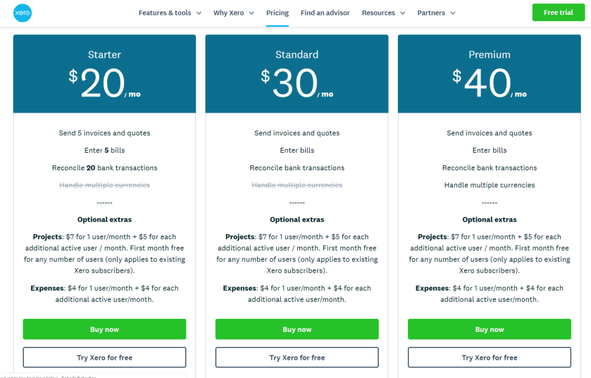 Xero Review Packages